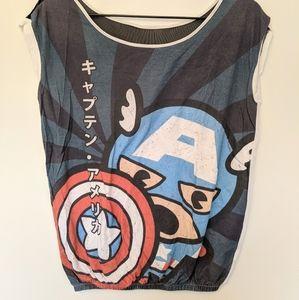 Captain America cartoon shirt